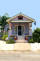 Purple shotgun house