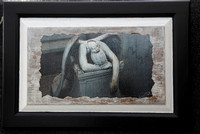 Weeping antiqued photo art
